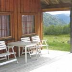 Terrasse med utemøbler