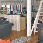 Stor stue med flott utsikt